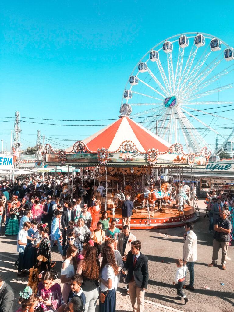 Feria de Abril w Sewilli - Calle Infierno