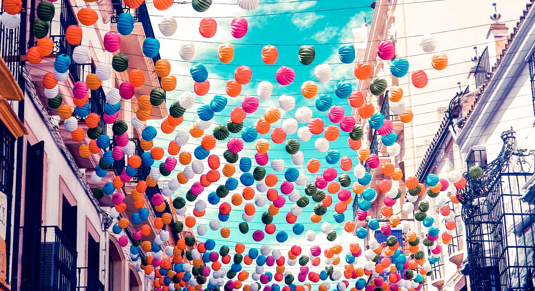 Ronda, dekoracje w Rondzie, Fiesta w Rondzie, Ronda w Andaluzji
