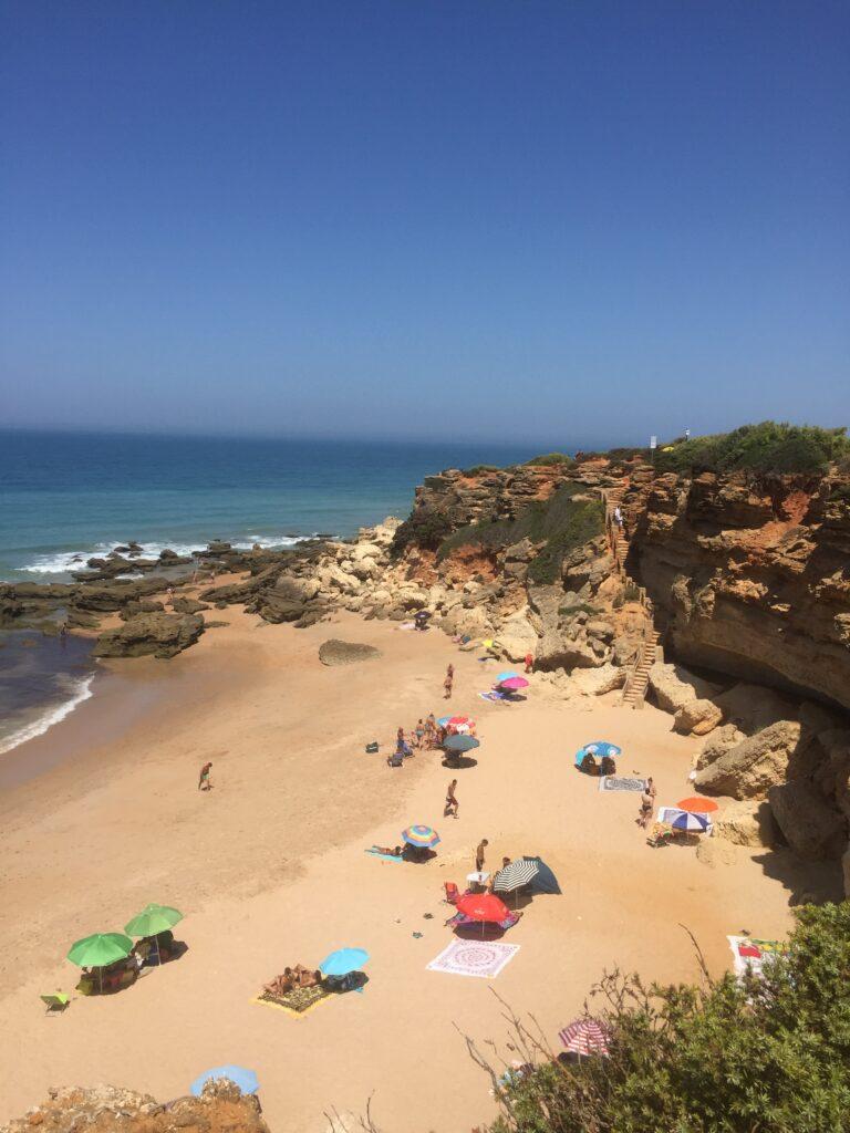 widok na plaże, Andaluzja, Conil de la Frontera, pogoda w Andaluzji