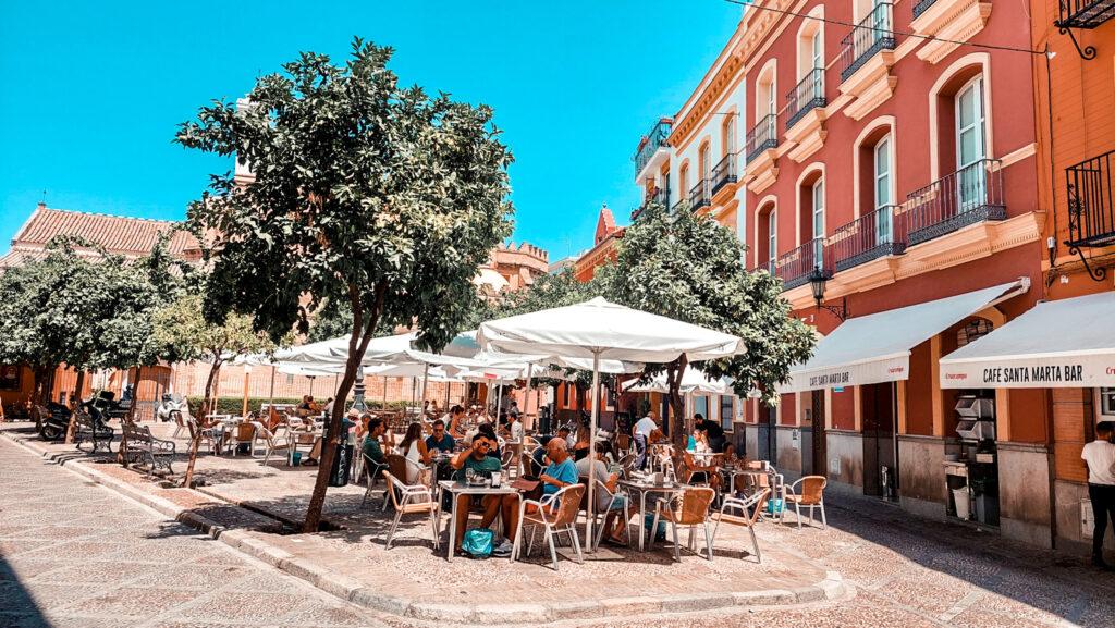 Plaza de san Andres, Sewilla, Andaluzja, bary w sewilli, Hiszpania, Hiszpańskie bary