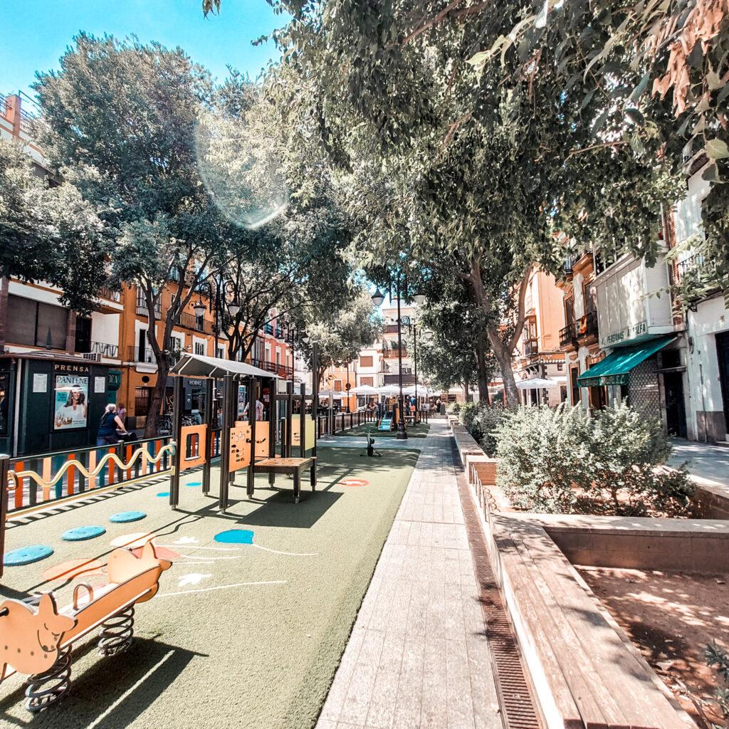 Plac zabaw, sewilla, miasto w hiszpanii, Andaluzja