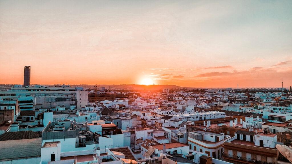 Las Setas, Metropol Parasol w Sewilli, zachód słońca, w hiszpanii